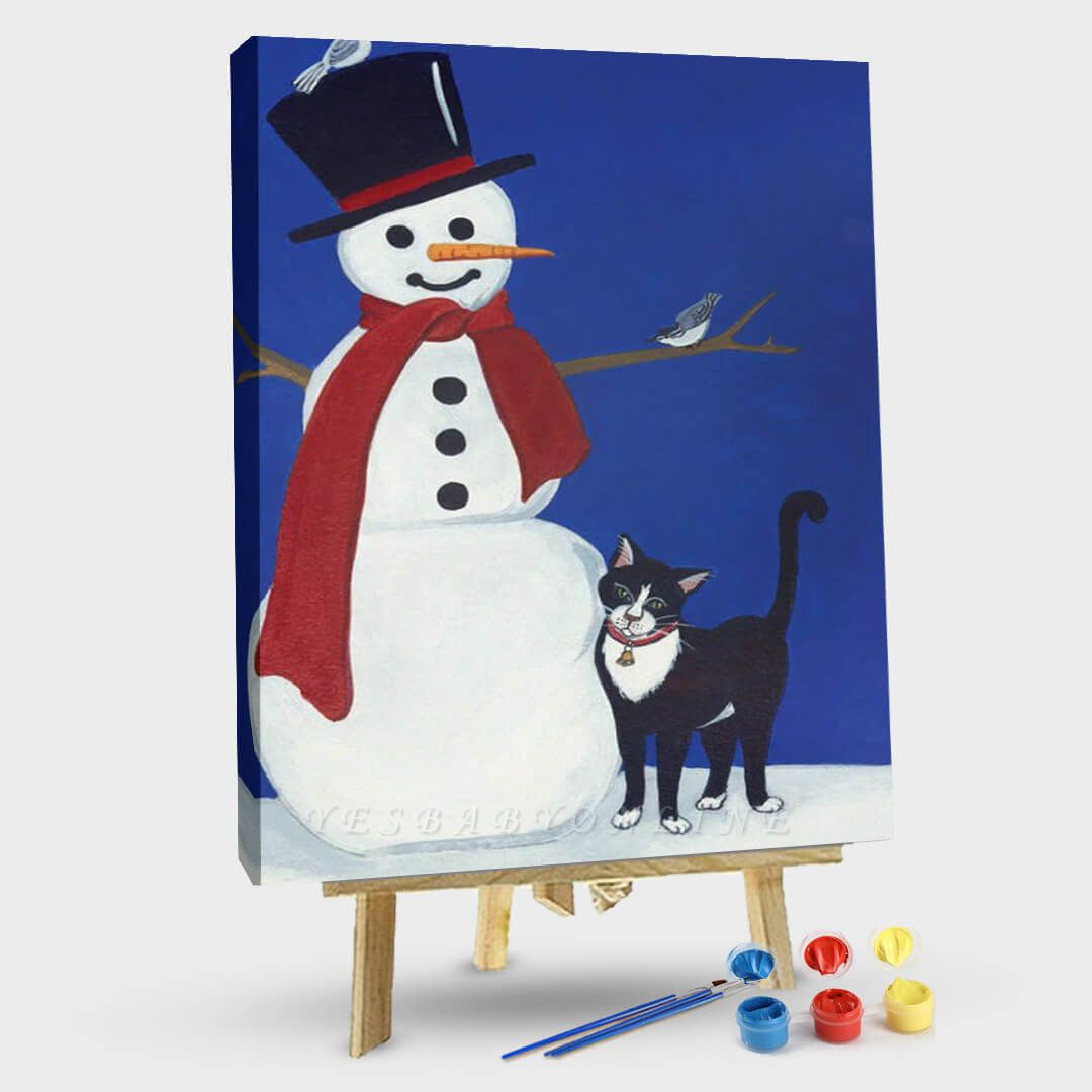 Paint By Numbers Kit-Snowman