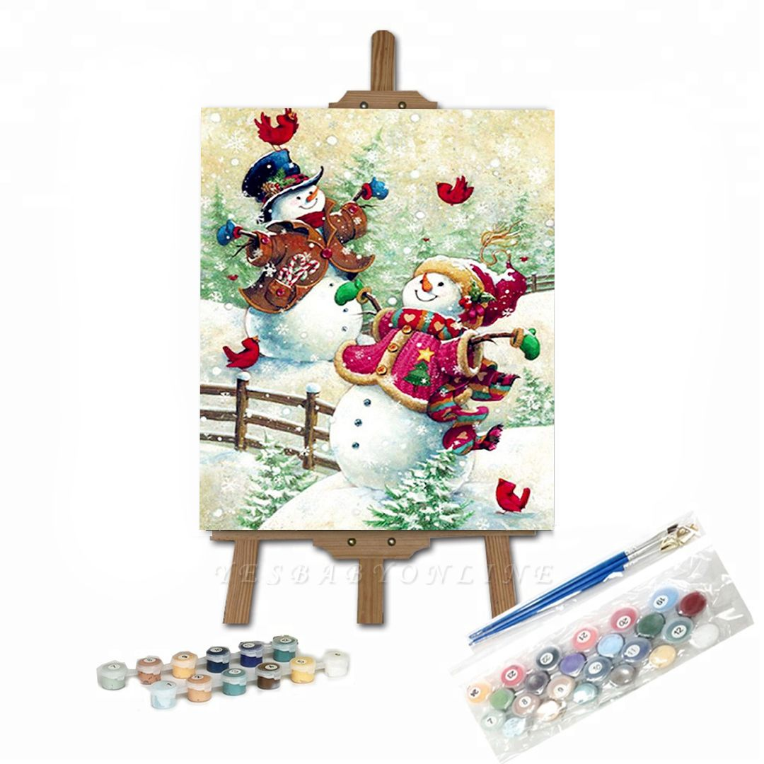 Paint By Numbers Kit-Happy Snowman