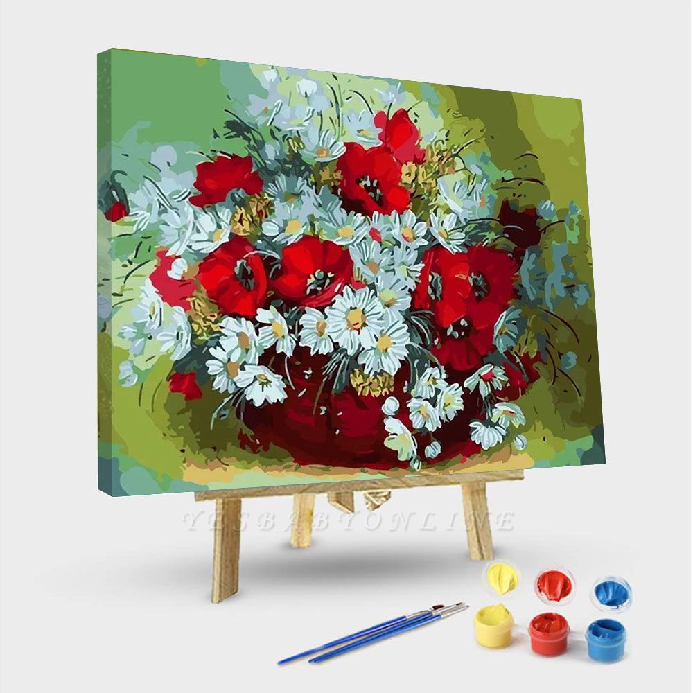 Daisy Flower Abstract – Flowers Paint By Number