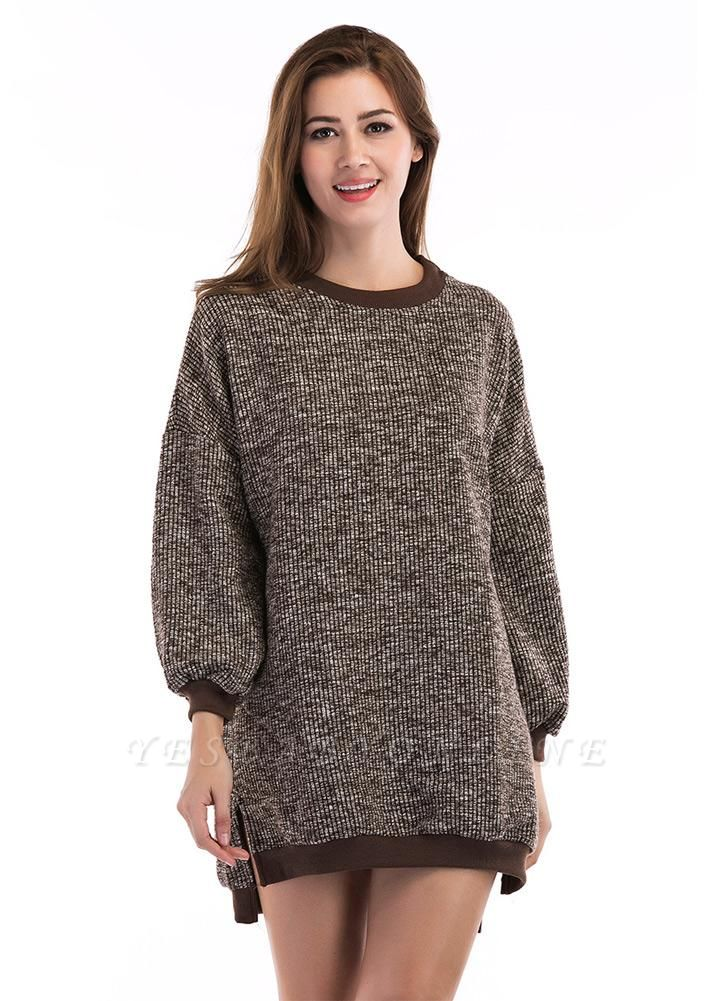 Fashion Knitted Sweater Long Sleeve Loose Women's Pullover