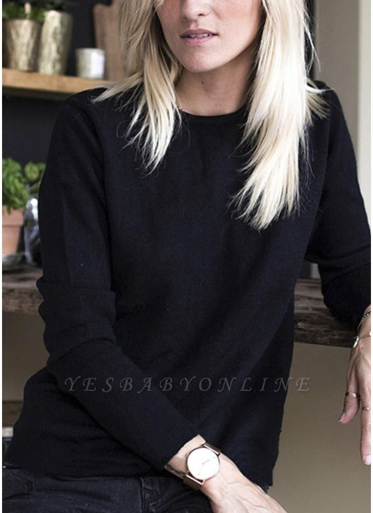 Knit Sweater Lace Up Backless Long Sleeve Lace Patch Pullover Casual Tops