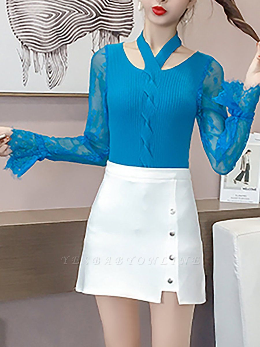 Plain Casual Long Sleeve Sweater