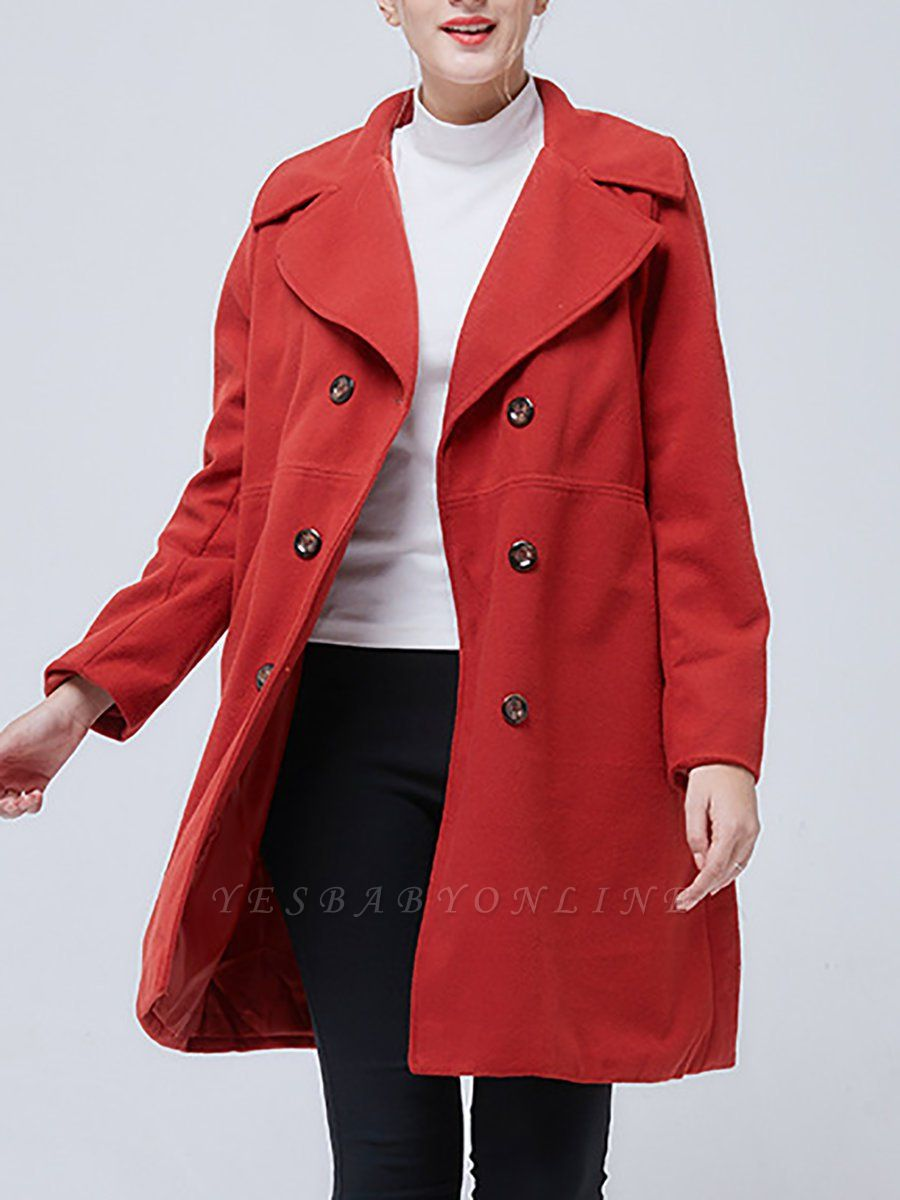 Shawl Collar Long Sleeve Casual Coat