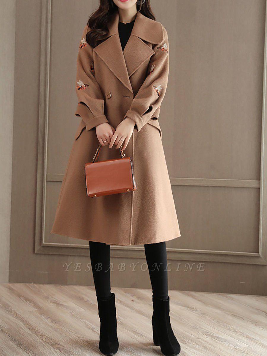 Casual Paneled Shift Animal Long Sleeve Coat