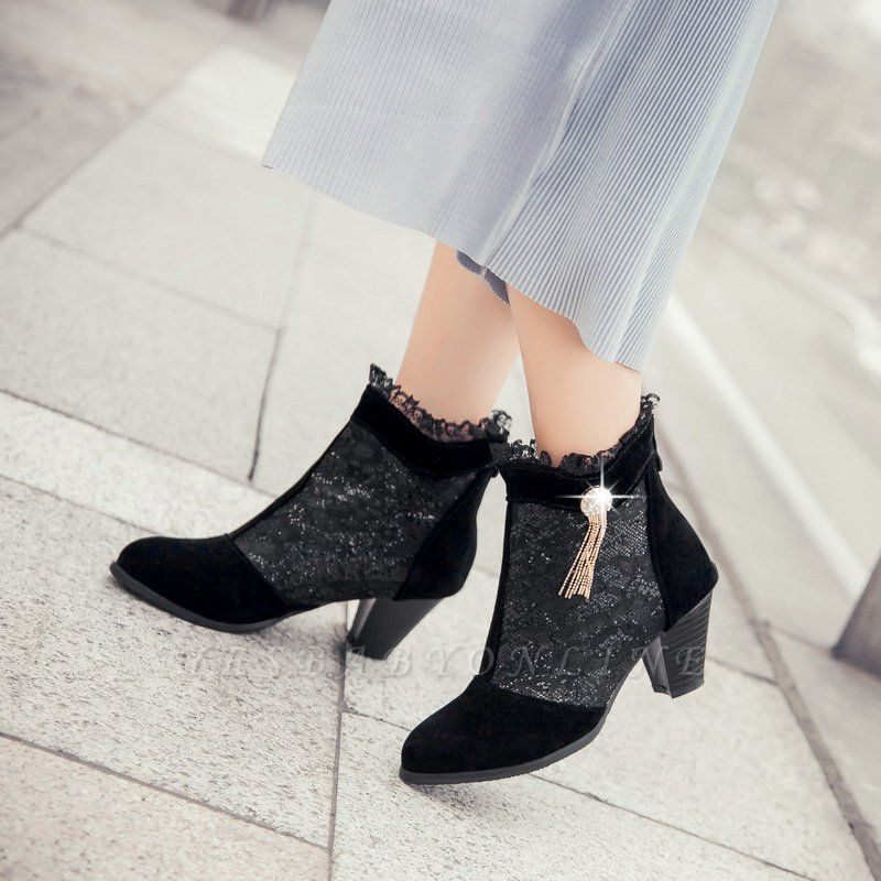 Lady Chunky Heel Boots