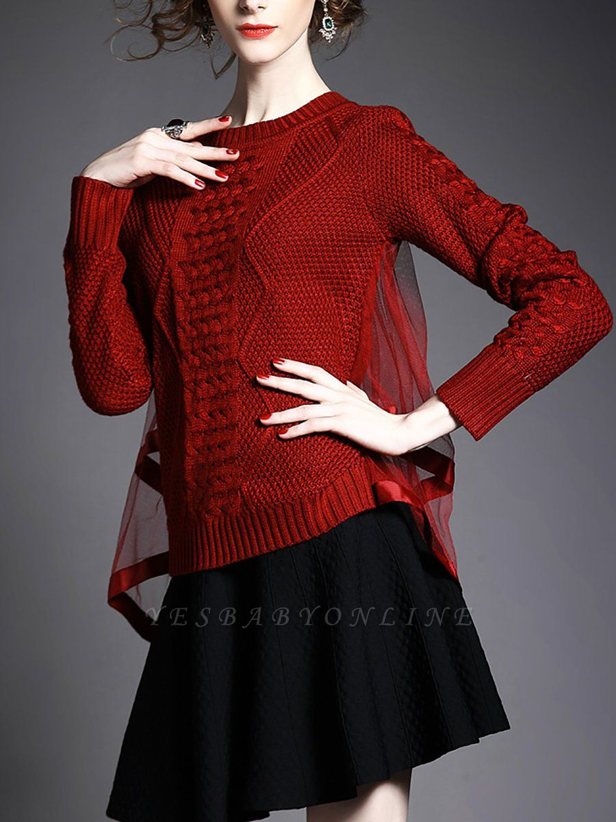 Statement Shift Long Sleeve Sweater