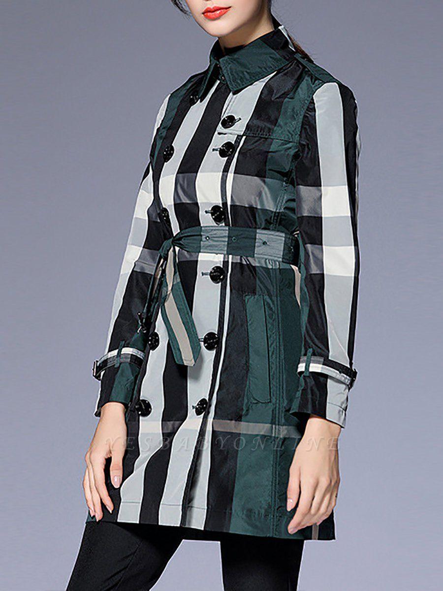 Shift Long Sleeve Checkered/Plaid Work Coat