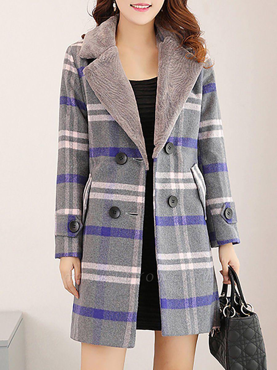 Shift Long Sleeve Casual Coat