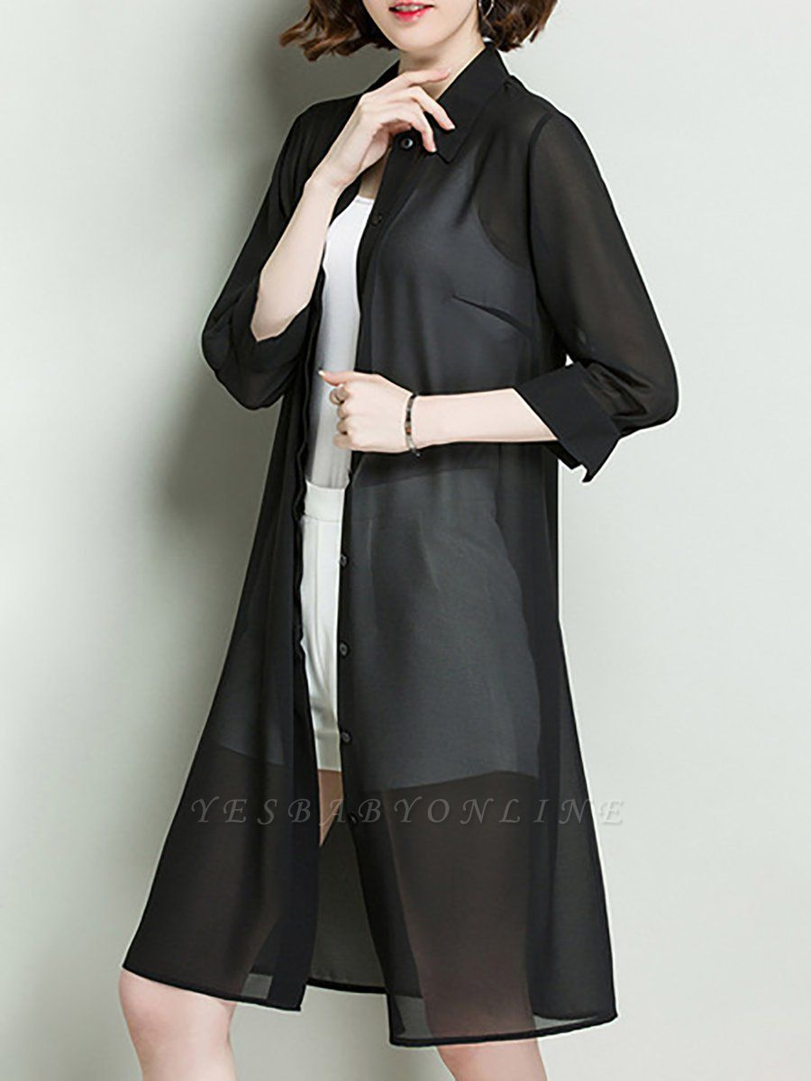 Simple Casual Chiffon Coat