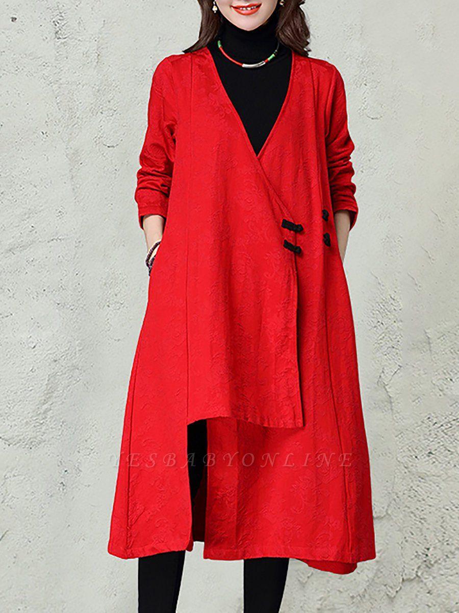 Linen Sleeveless A-line Casual Jacquard Coat