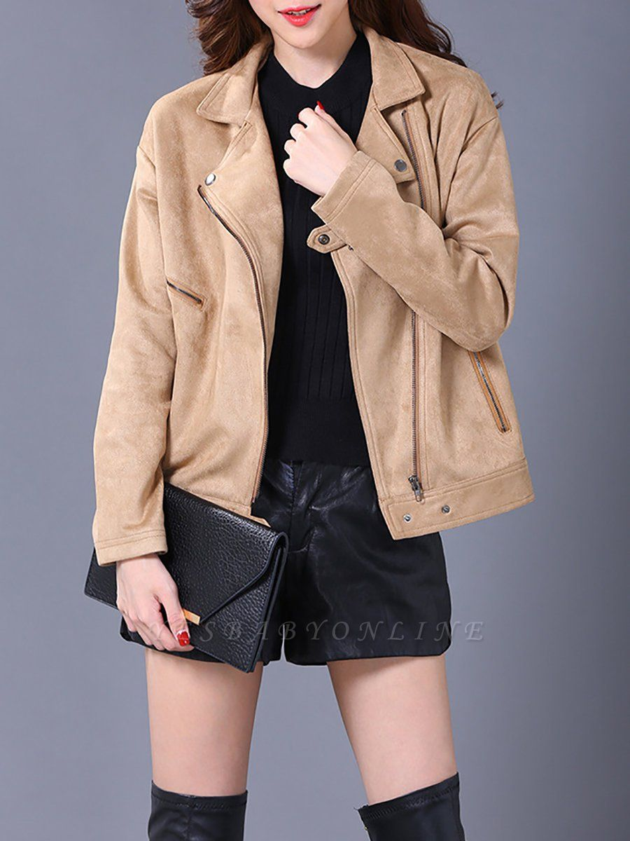 Shift Casual Solid Long Sleeve Coat