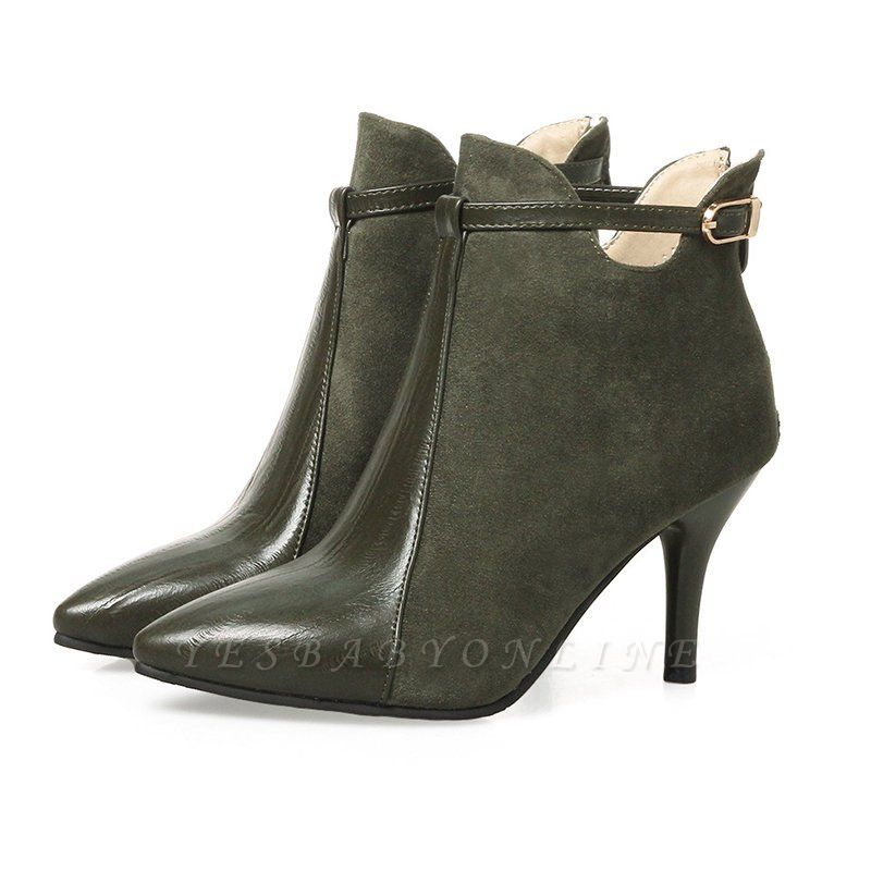 Buckle Stiletto Heel Daily Elegant Boots