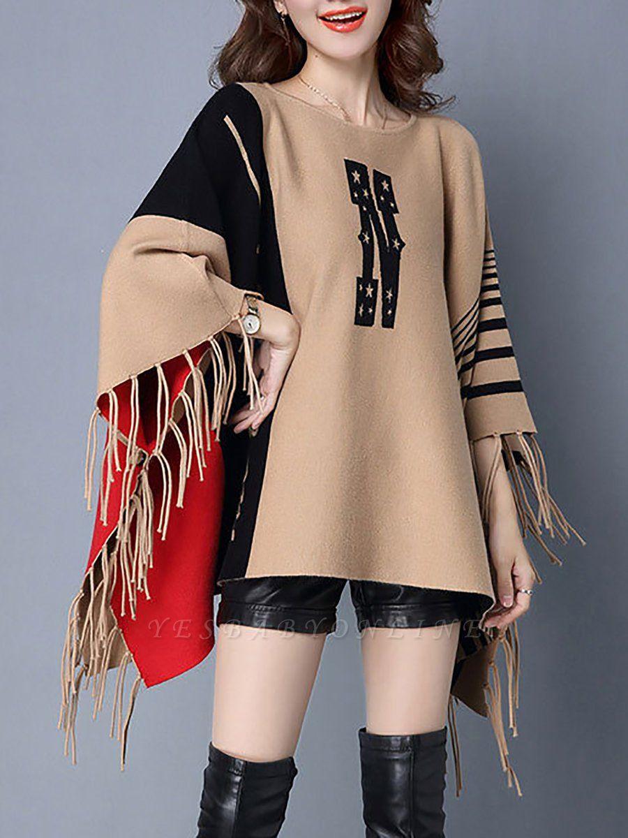 Khaki Casual Bateau/boat neck Sweater