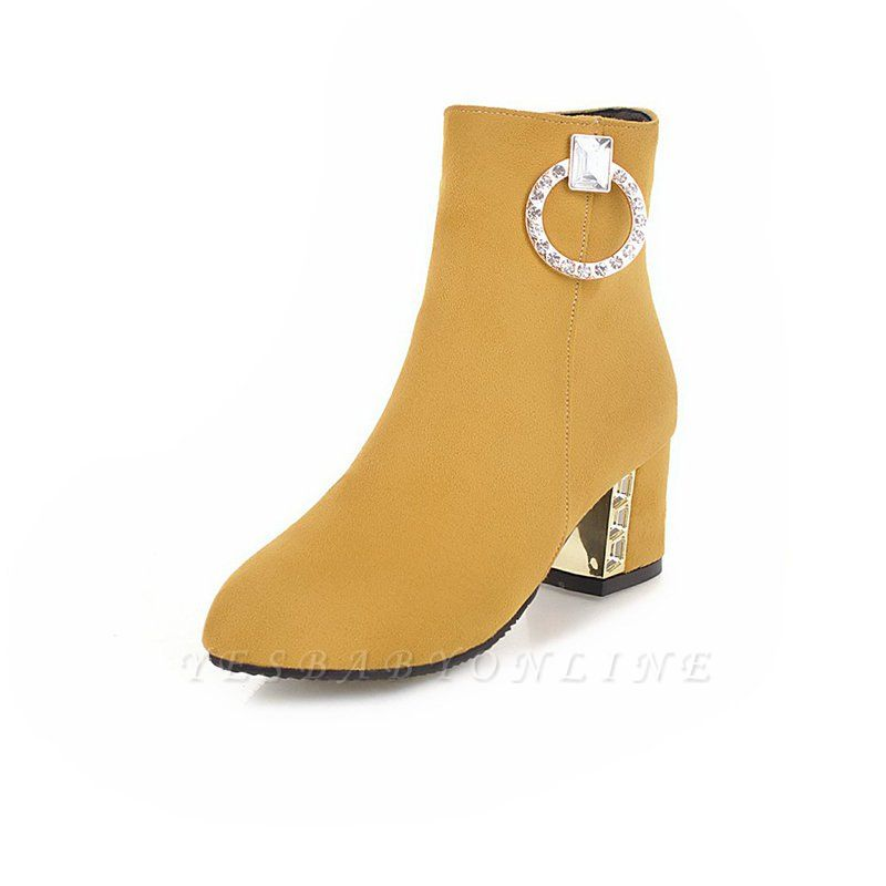Zipper Daily Chunky Heel Pointed Toe Elegant Boots