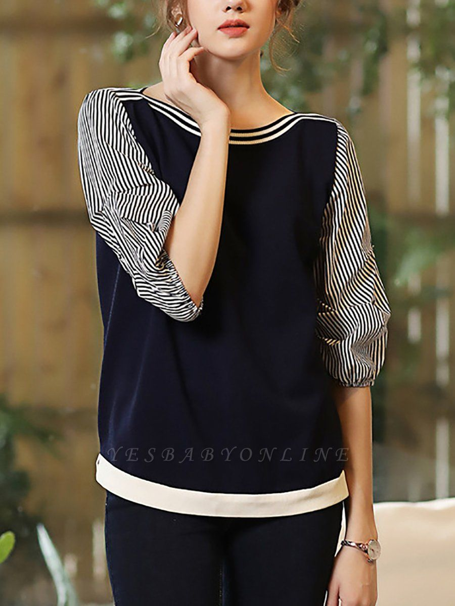 Royal blue Balloon Sleeve Shift Sweater