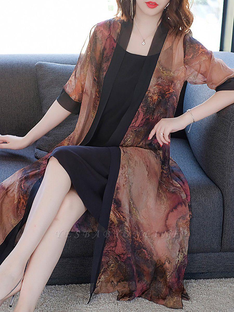 Elegant Printed Sunscreen Coat