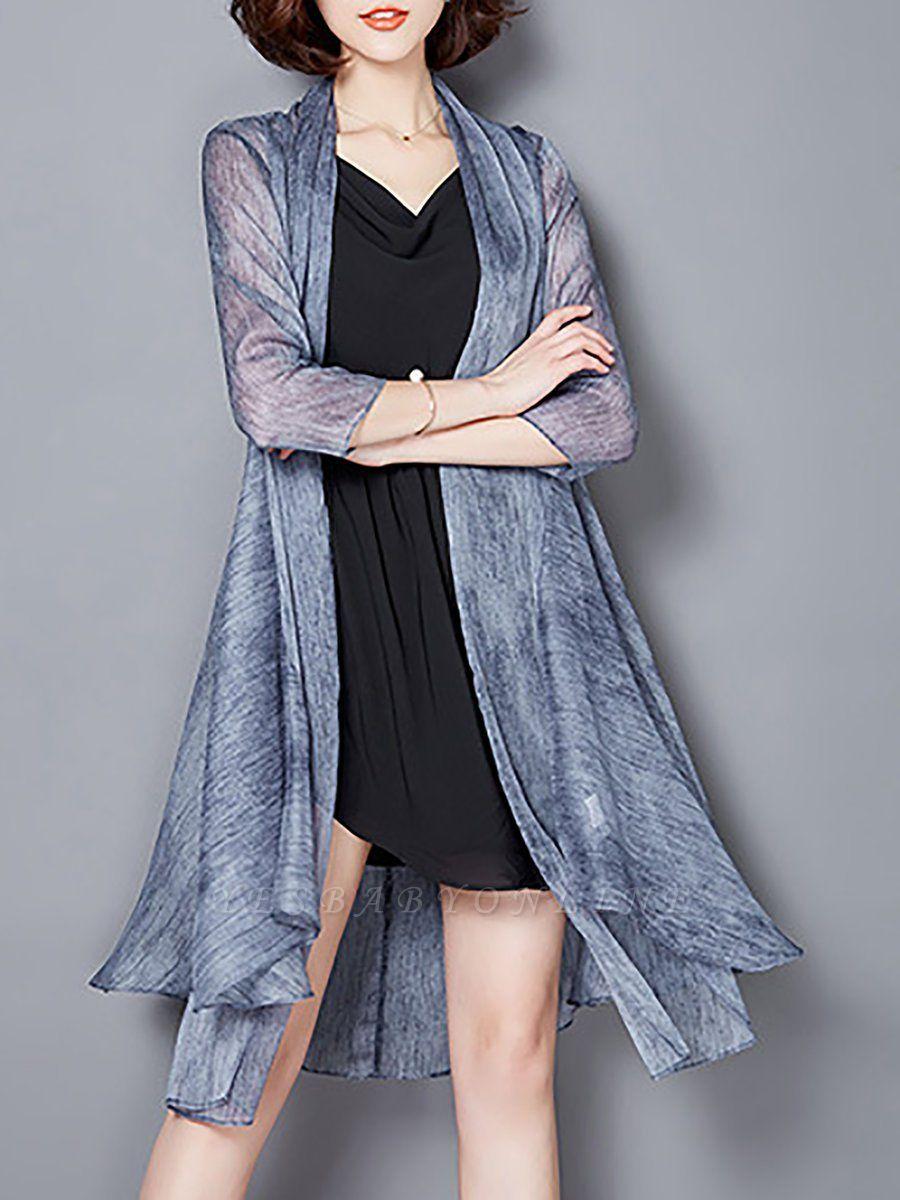 Asymmetrical Elegant Chiffon Coat