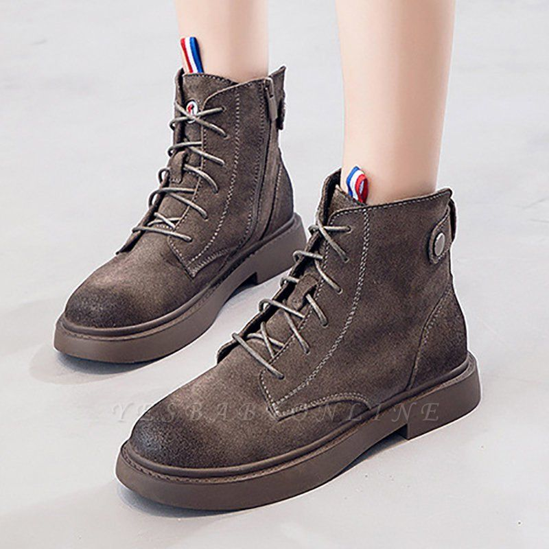 Grind Leather Zipper Boot