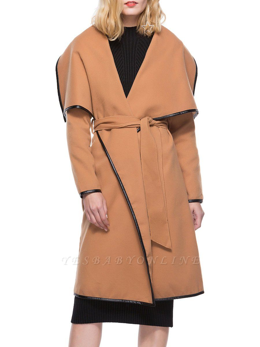 Binding Casual Long Sleeve Work Coat