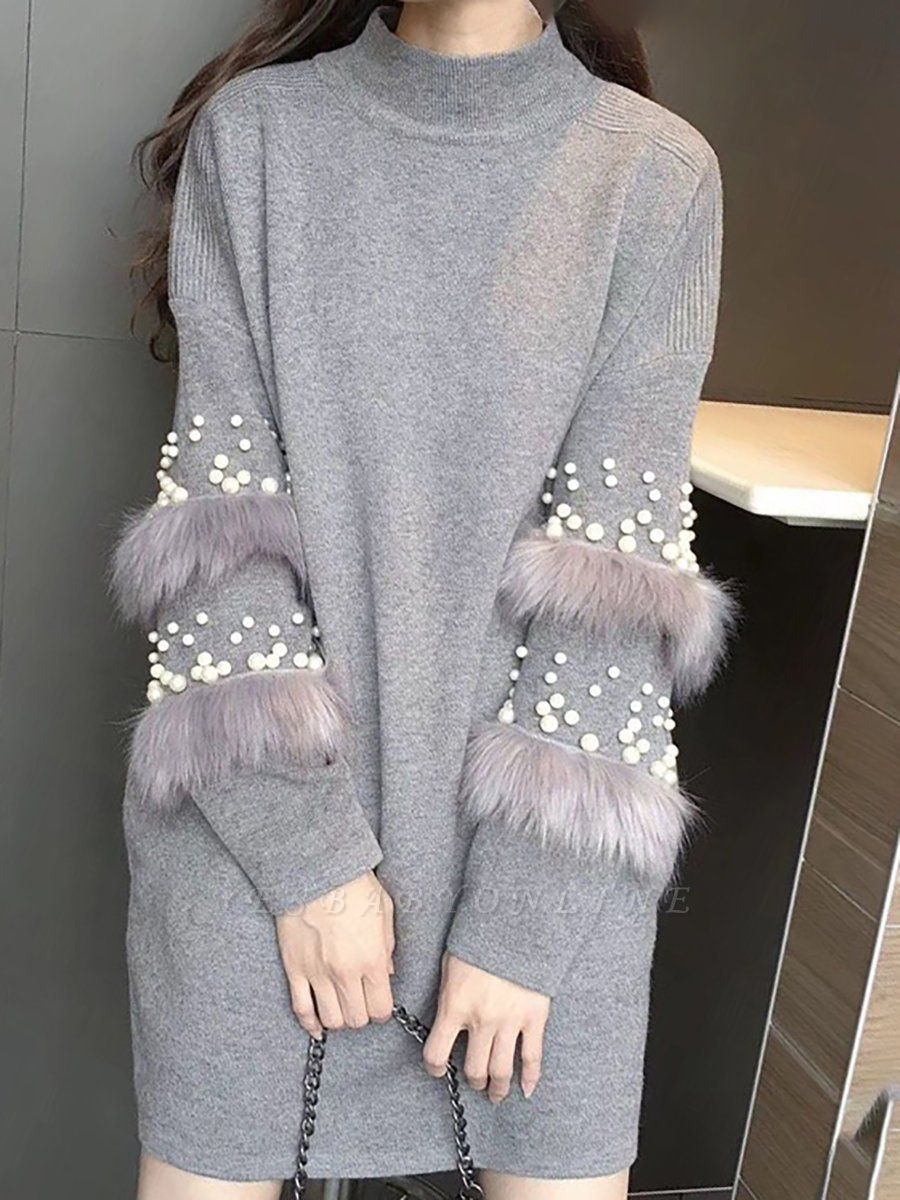 Long Sleeve Cotton Casual Solid Sweater