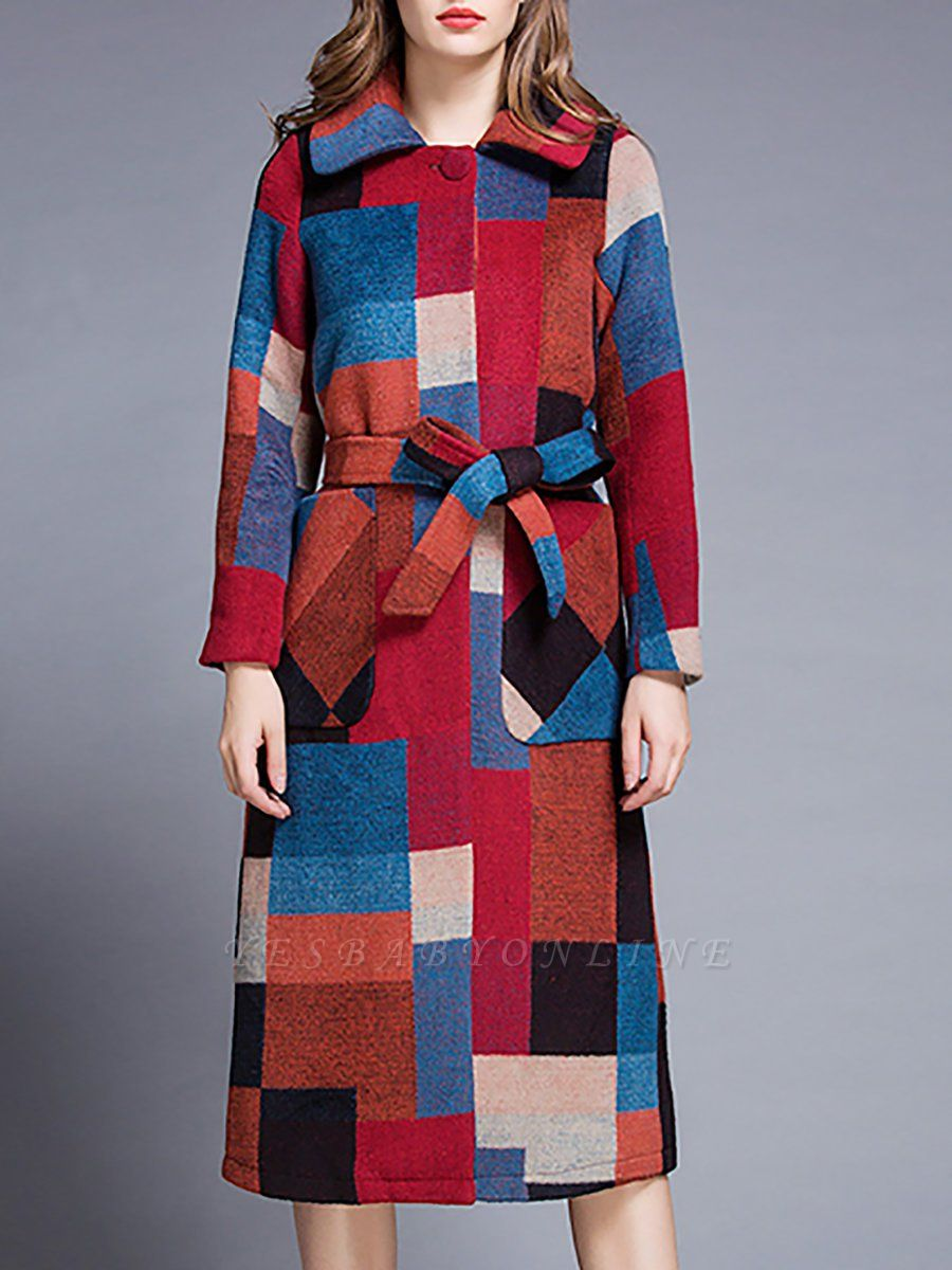Red Shift Long Sleeve Graphic Coat