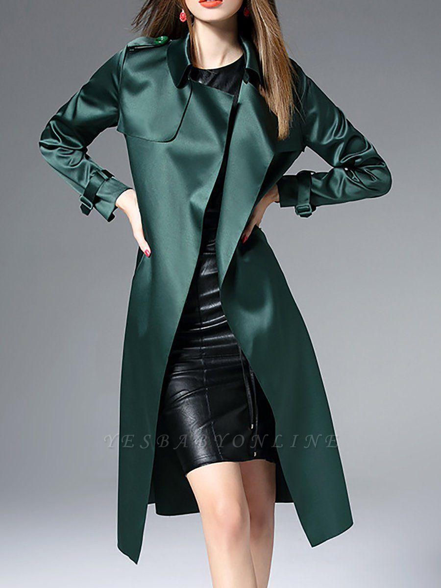 Shift Casual Long Sleeve Lapel Coat