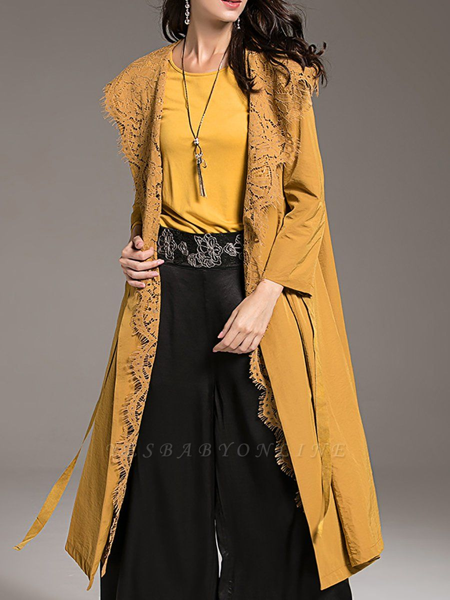 Long Sleeve Solid Casual Buttoned Hoodie A-line Coat