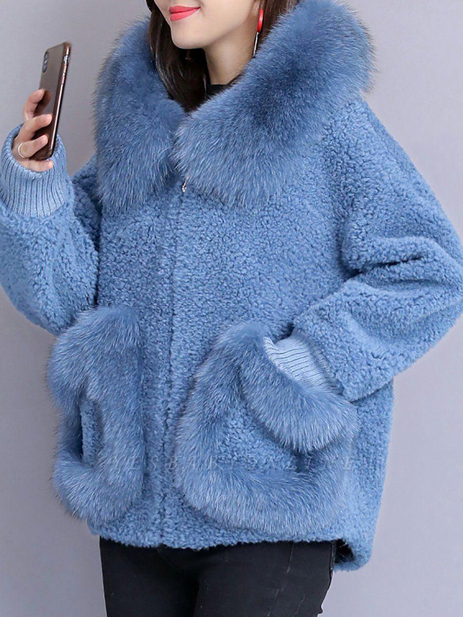 Long Sleeve Shift Fur And Shearling Coats