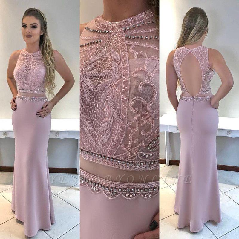 Beadings Gorgeous Mermaid Sleeveless Prom Dress
