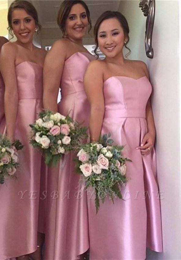 Hi-Lo Cheap Sweetheart Simple Newest  Bridesmaid Dress