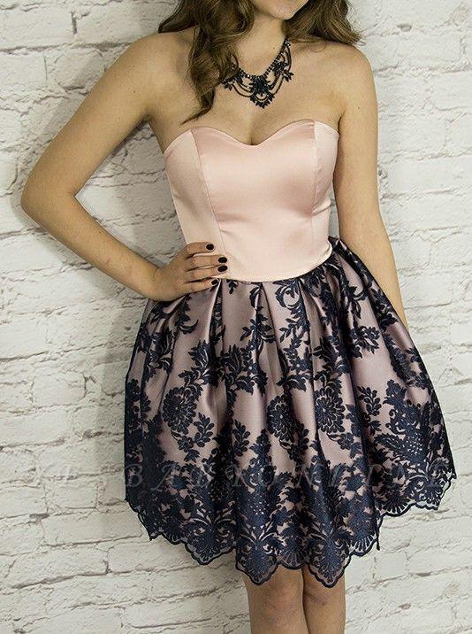 Elegant Sweetheart Homecoming Dresses | Sleeveless Short Cocktail Dresses
