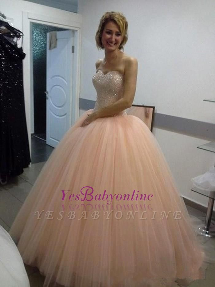 Ball-Gown Sweetheart Sequins Beautiful Tulle Evening Dress