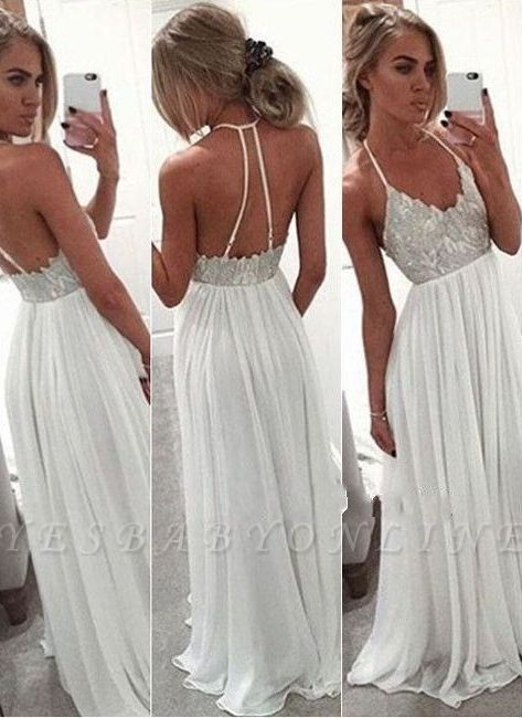 Backless  Long Halter-Neck Sexy Prom Dresses