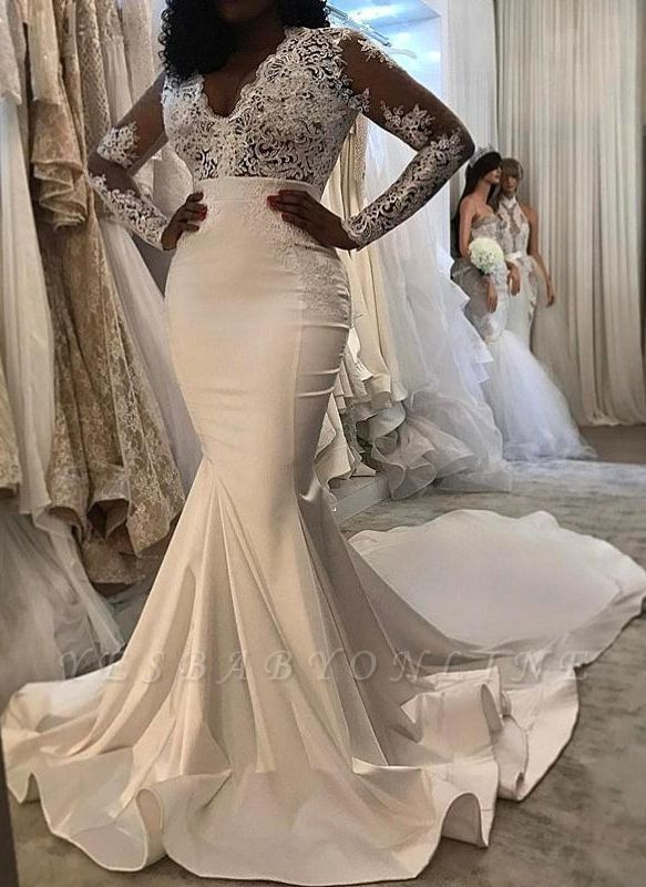 Charming Off-the-Shoulder Mermaid Lace Wedding Dresses
