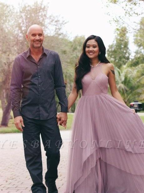 Jewel Tiered Chic Sleeveless A-Line Prom Dresses