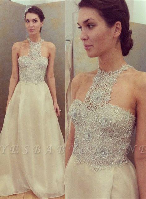 Cheap Sleeveless Designer Long Lace Appliques Beadings Glamorous Prom Dress