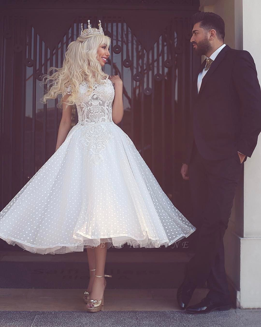 Sparkly White Off-the-Shoulder Ball-Gown Wedding Dress