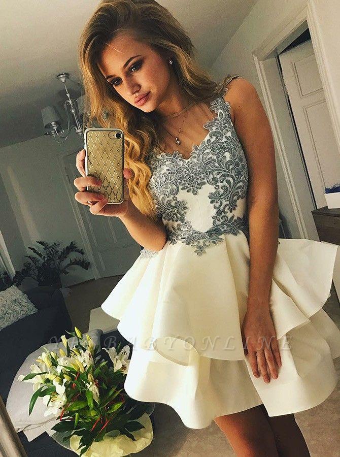 Elegant Appliques Homecoming Dresses | A-Line Sleeveless Cocktail Dresses