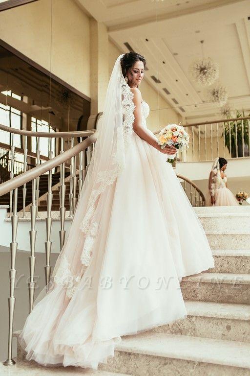 Tulle Glamorous Beadings Princess Sweetheart Lace Wedding Dress