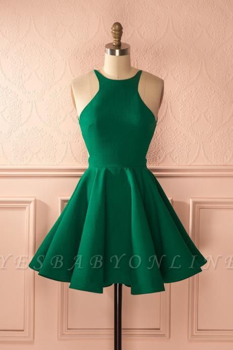 Chic New Arrival A-line Green Short Homecoming Dress BC2607