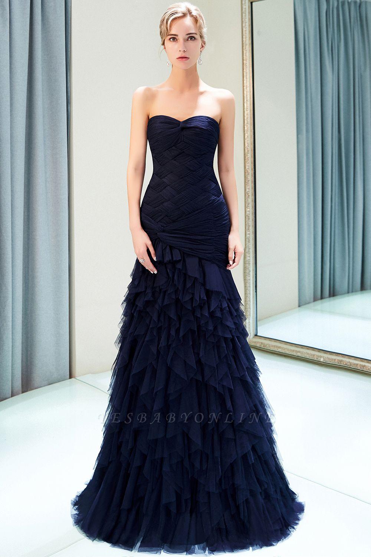 Elegant Mermaid Sweetheart Ruffles Floor-Length Prom Dresses | Evening Gown