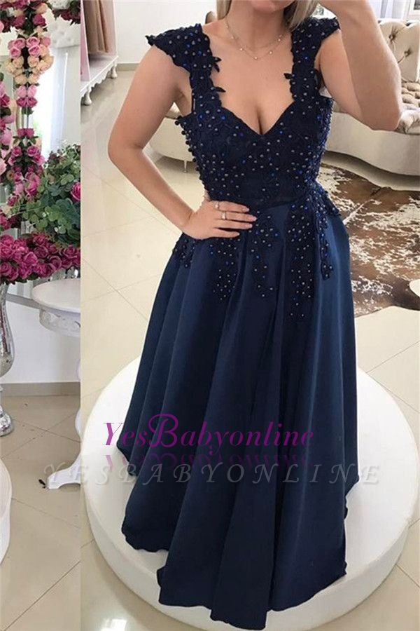 Prom Floor-Length Backless Two-straps Gown Sexy Evening Dress