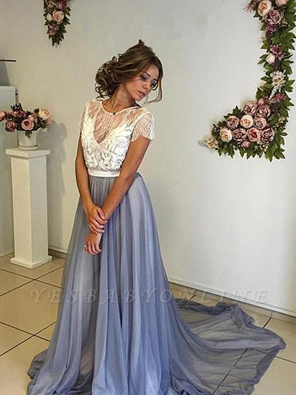 Elegant A-Line Backless Prom Dresses | Sleeveless  Evening Dresses