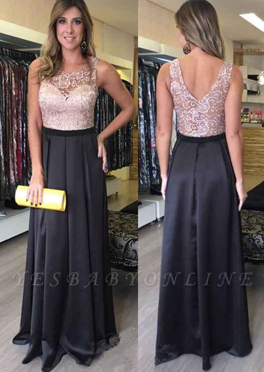 Lace Sleeveless Floor-Length Zipper Gorgeous A-Line Prom Dresses