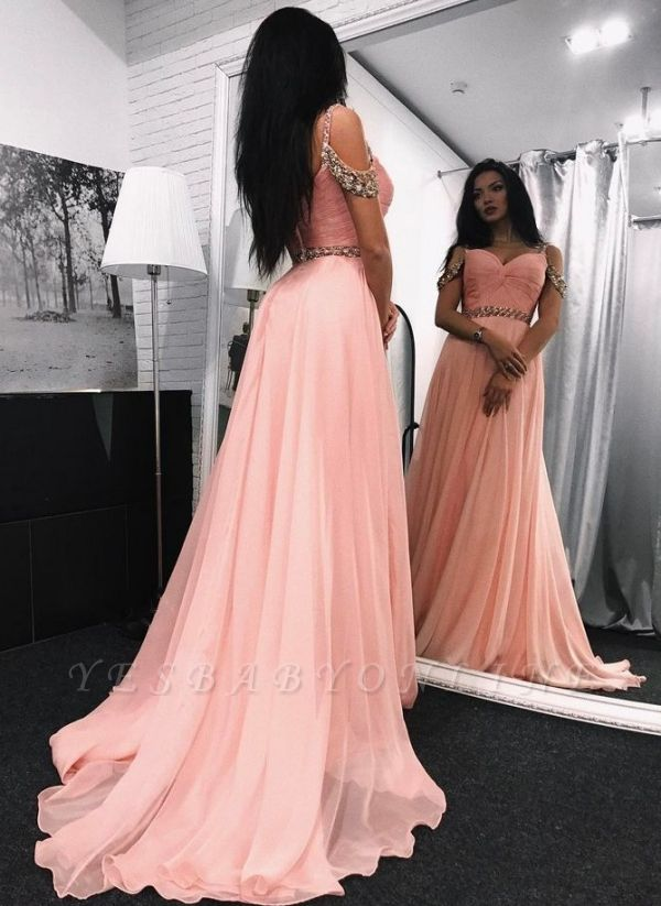 Chic Sweetheart Long Evening Dresses | Sleeveless A-Line Prom Dresses