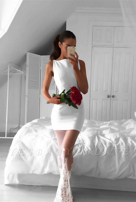 White Long Sleeveless Jewel Lace Mermaid Newest Prom Dress