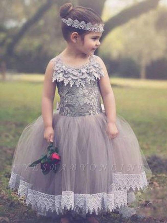 Lovely Chic Ball Gown Tulle Flower Girl Dresses | Lace Bowknots Kids Pageant Dresses