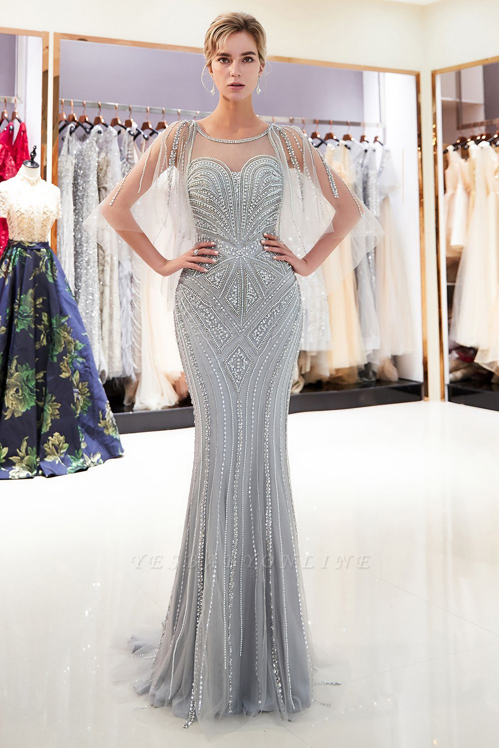 Sexy Mermaid  Sequins Beading Sweetheart Prom Dress   2019 Evening Dresses