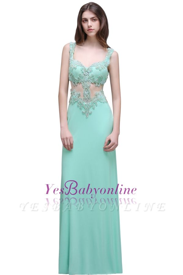 Sleeveless Backless See-Through Sweetheart Long Floor-Length Evening Gown