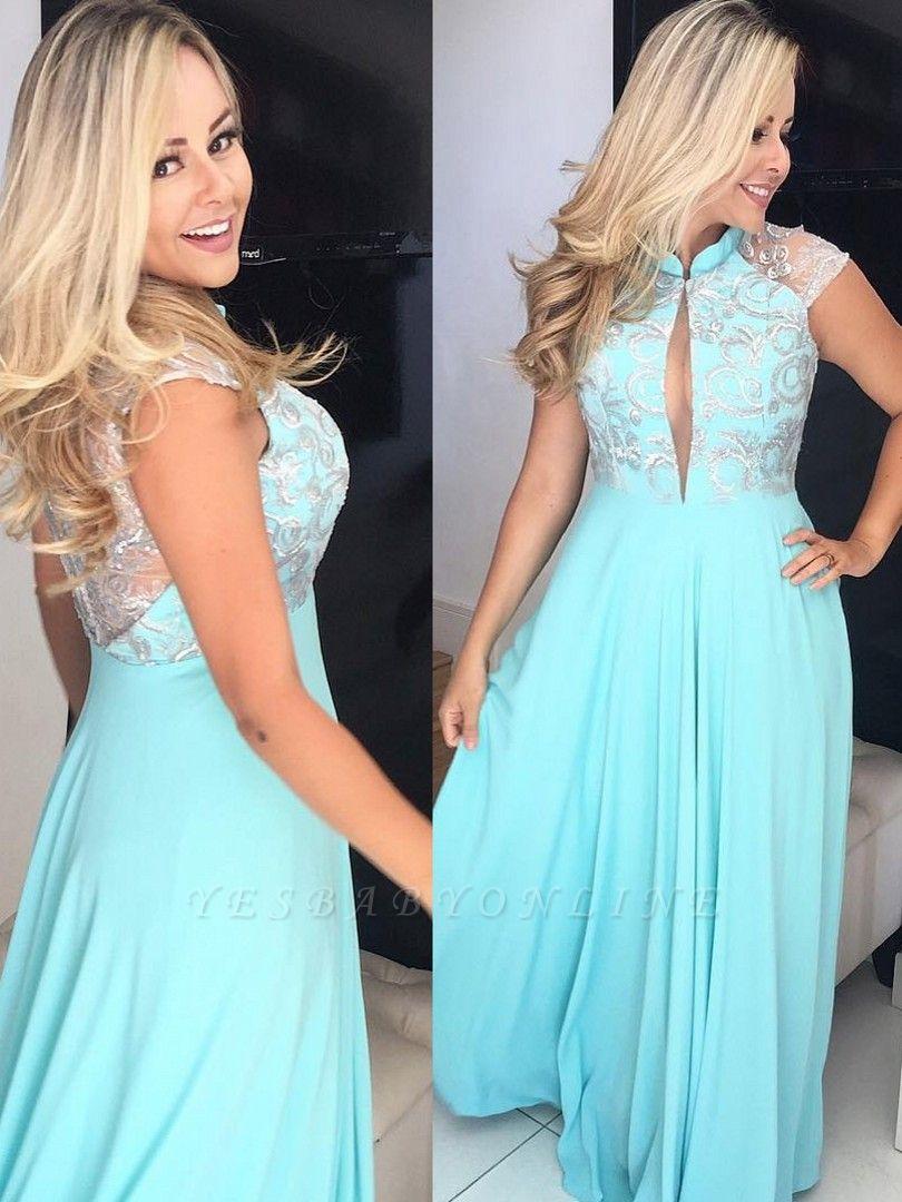 Elegant Sleeveless Floor-Length Prom Dresses